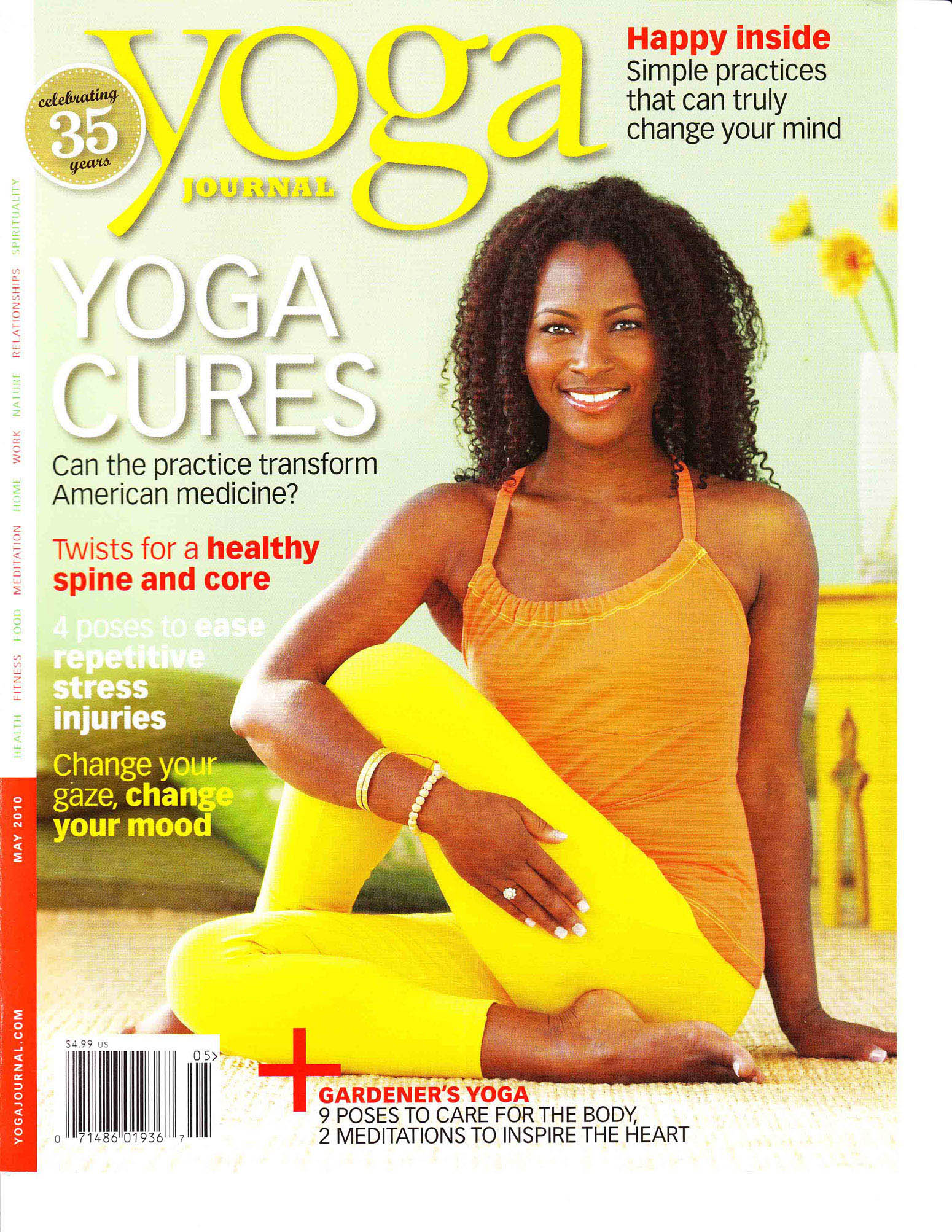 yoga journal cover and new website faith hunter yoga all the way live free online yoga classes. Black Bedroom Furniture Sets. Home Design Ideas